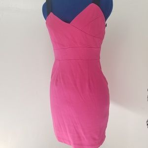 Forever 21 Hot Pink Mini With Black Straps